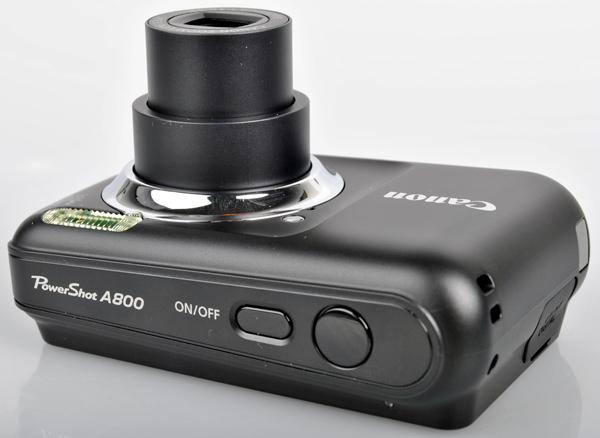 Canon Powershot A800 top