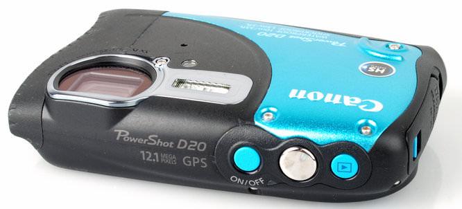Canon Powershot D20 Top