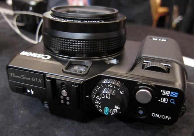 Canon Powershot G1 X Top