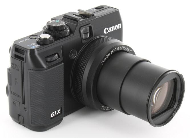 Canon PowerShot G1 X Lens Extended