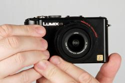 Panasonic Lumix DMC-LX3 held