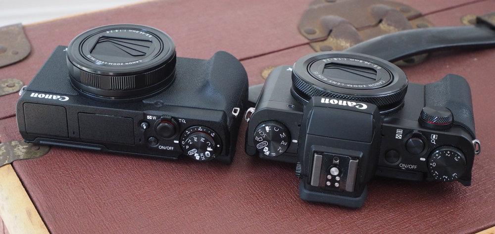Canon Powershot G5X MarkII Vs MarkI Top