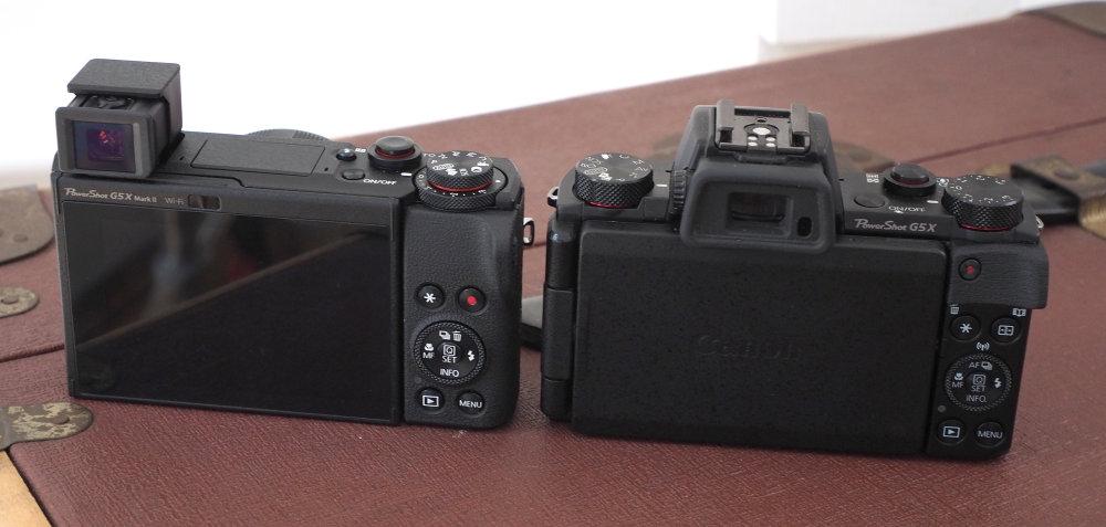 Canon Powershot G5X MarkII Vs MarkI Rear EVF