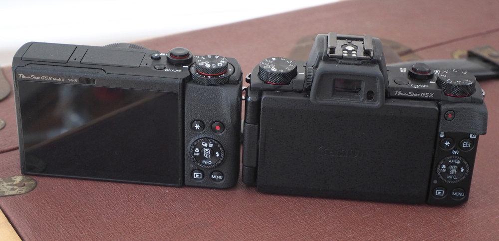 Canon Powershot G5X MarkII Vs MarkI Rear