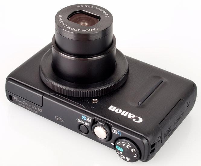 Canon PowerShot S100 Top