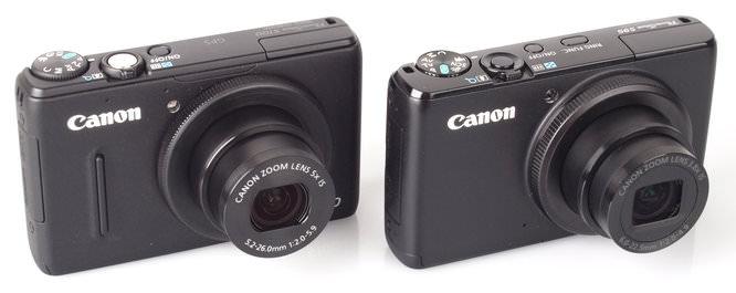 Canon Powershot S100 and Canon Powershot S95