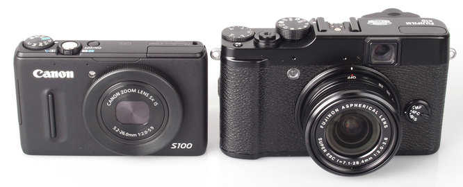 Canon Powershot S100 and Fujifilm FinePix X10