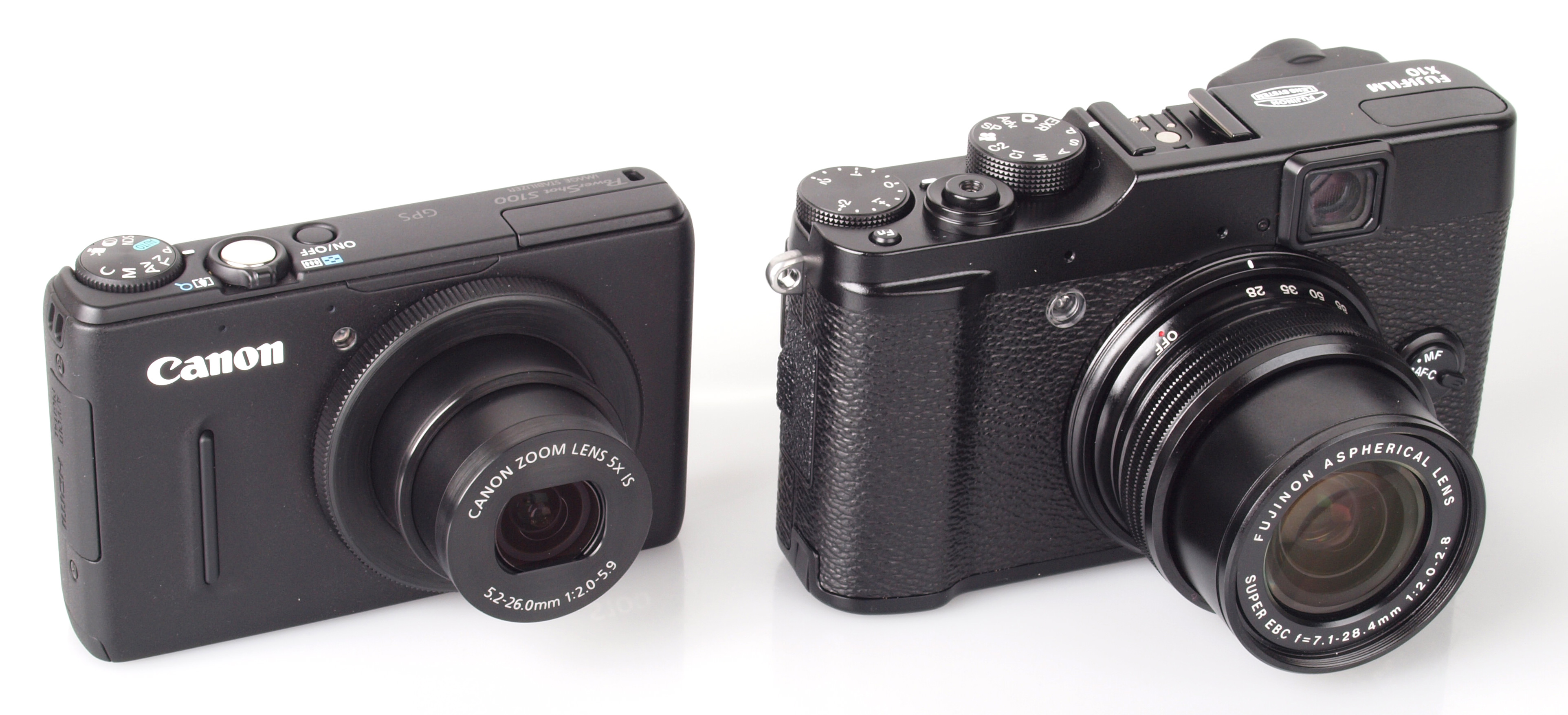 canon powershot s100 vs fujifilm finepix x10 comparison review. Black Bedroom Furniture Sets. Home Design Ideas