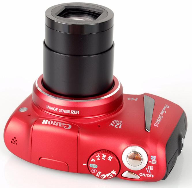 Canon PowerShot SX150 IS Top