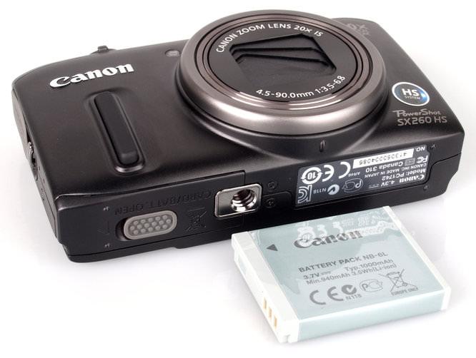 Canon Powershot Sx260hs Bottom