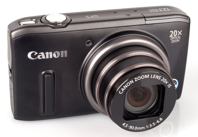 Canon Powershot Sx260hs Front On Wide