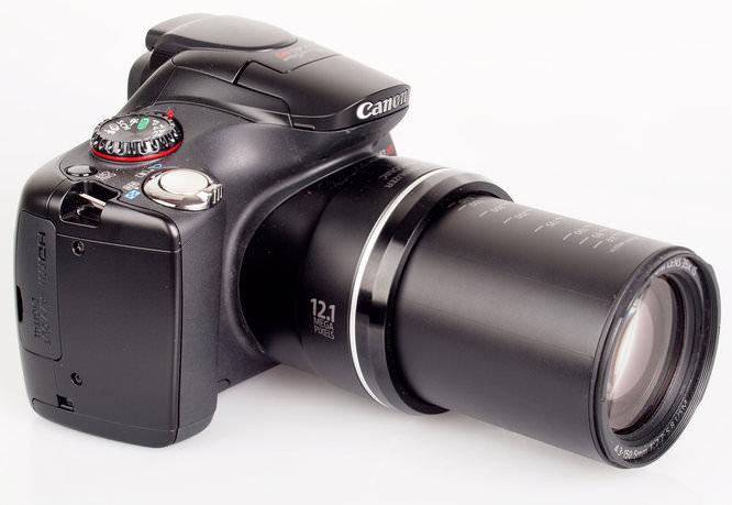 Canon PowerShot SX40 HS lens extended