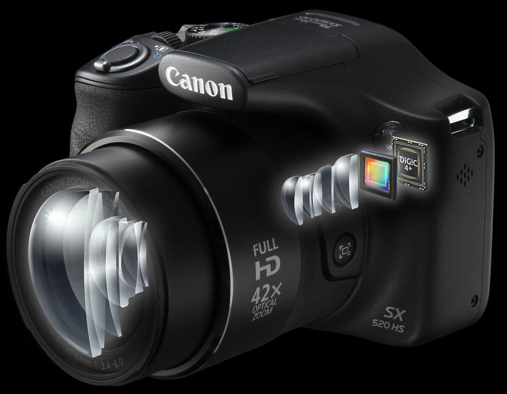 PowerShot SX520 HS Lens Sensor Digic Processor Perspective