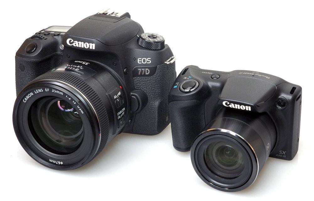 Canon EOS 77D Canon Powershot SX430 IS (1)