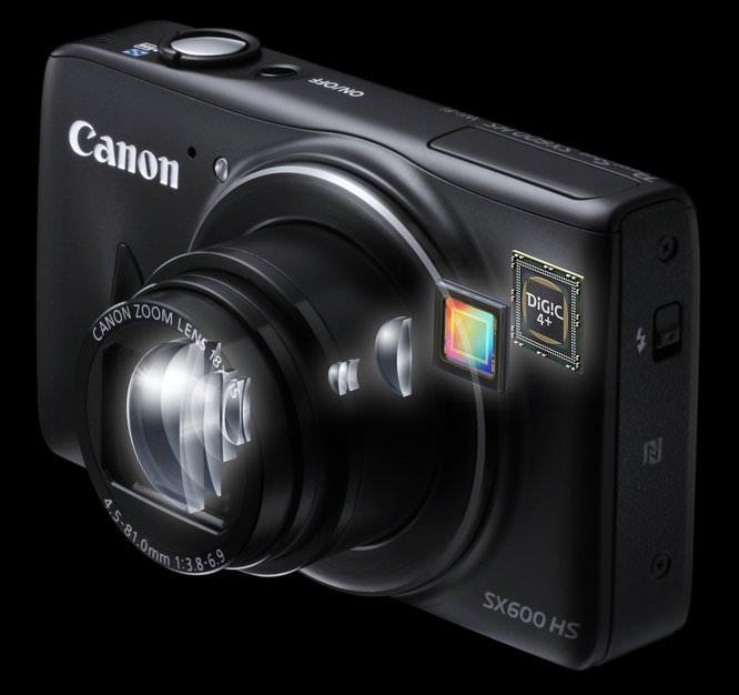 PowerShot SX600 HS Lens Sensor Digic Perspective