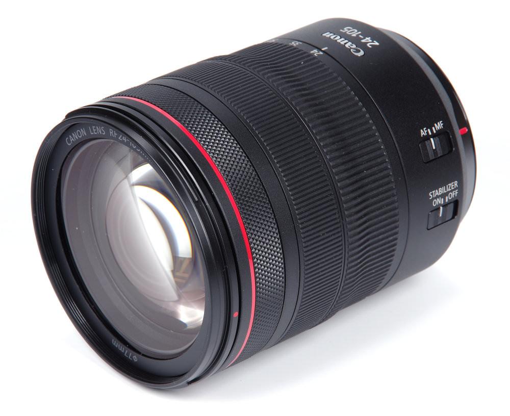 Canon Rf24 105mm F4l Front Oblique View