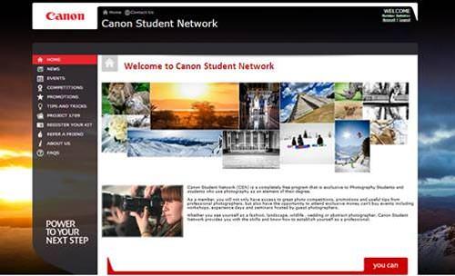 Canon student network