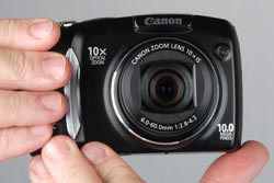 Canon Powershot SX120 IS held out