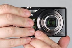 Casio Exilim EX-H10 held out