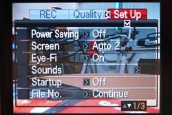 Casio Exilim EX-H10 screen