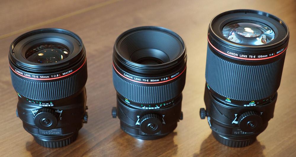 Canon TS-E 50mm, 90mm f/2.8L Macro, 135mm f/4L Macro, 85mm f/1.4L IS USM