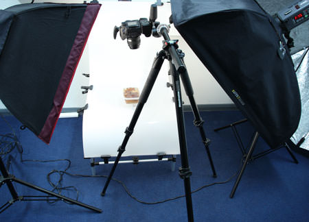 Leaf photography set-up