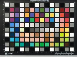 Casio Exilim EX-H10 colour chart image