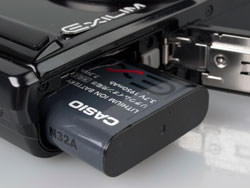 Casio Exilim EX-H20G battery compartment