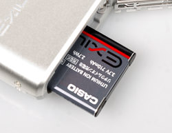 Casio EX-H5 Battery detail