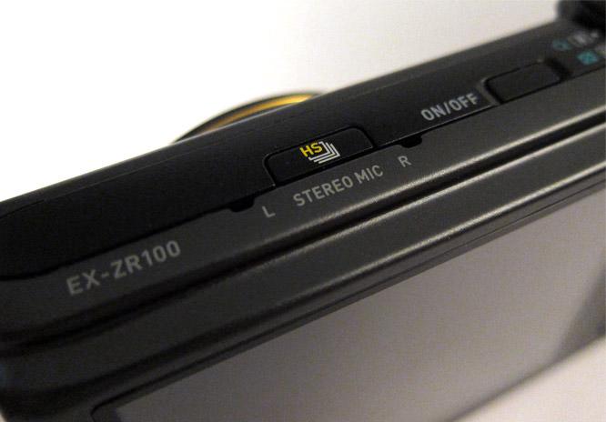 Casio Exilim HS100 HS button