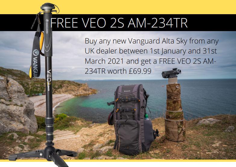 claim a free VEO 2S AM-234TR aluminium monopod
