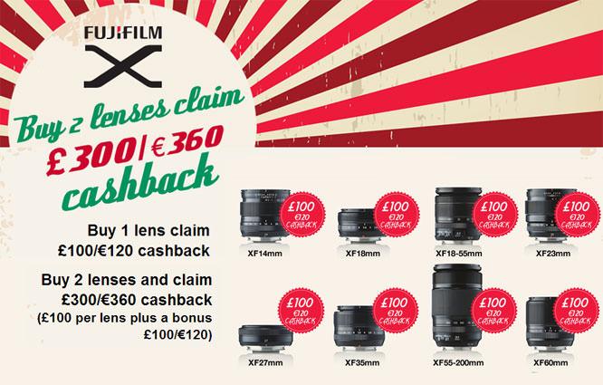 Fujifilm lens cashback offer