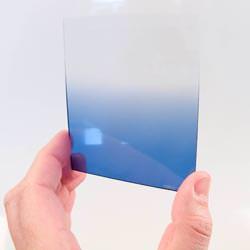 Cokin Landscape 1 filter kit Blue Grad held up.