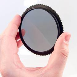 Cokin Landscape 1 filter kit Circular Polariser held up.