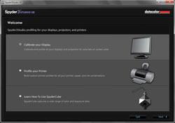 Datacolor Spyder Studio SR calibration set-up