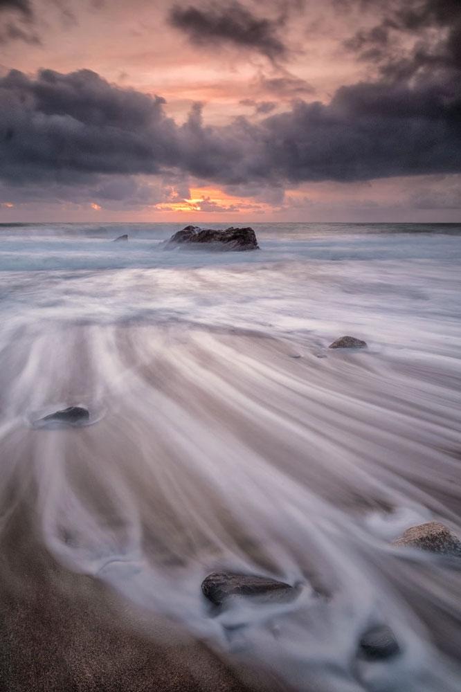 Peaches and Cream - Cornish Seascape