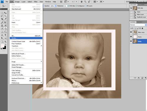 Create a white frame