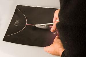 cutting card to make torch cone