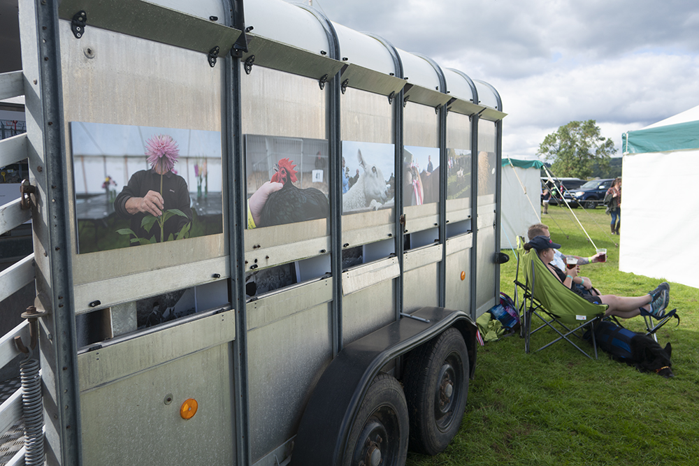 7 Art, and life – the four members of WIDEYED have different styles, from the pictorial to the gritty. As the trailer was parked next to the bar at Wolsingham show, passers-by were generally relaxed.