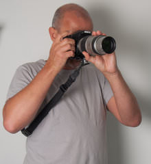 Custom SLR Camera Strap In Use 2