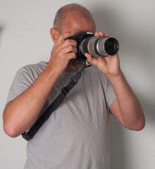 Custom SLR Camera Strap In Use 2