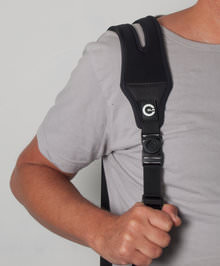 Custom SLR Camera Strap In Use