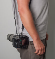 Custom SLR Camera Strap on M-Plate