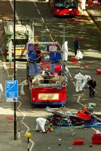 London July 2005. Bomb on bus.
