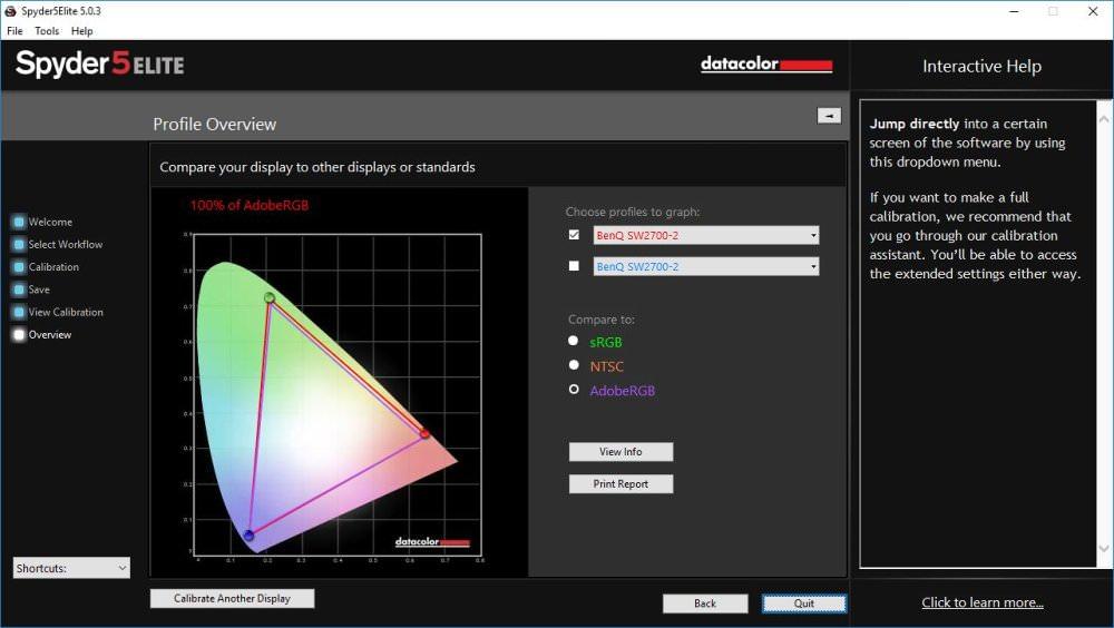 Benq Sw2700PT AdobeRGB Result