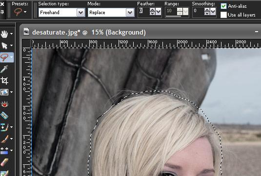 Corel Paint Shop Pro X3 - make a selection: step 2