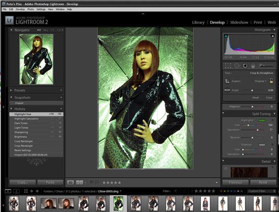 Light Room Split Background From Skin Tones