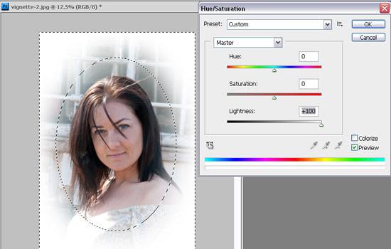 digital vignette - create vignette