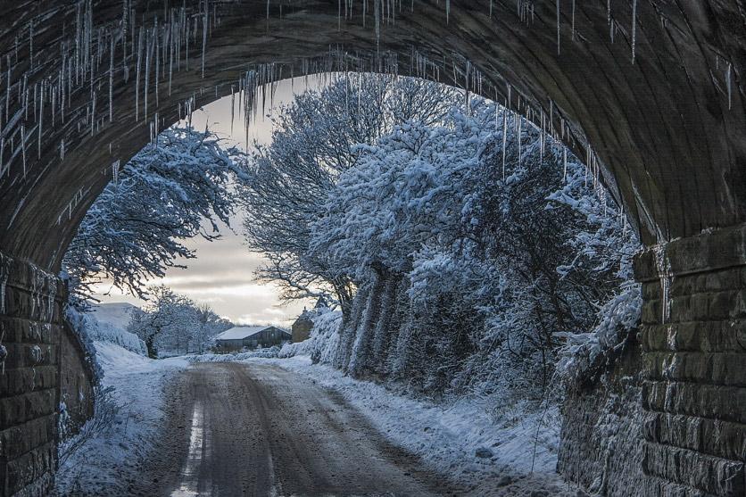 icicles under bridge stevenb
