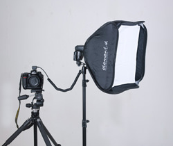Elemental softbox for flashgun